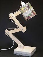 lamparas hechas con madera para la mesa de luz o escritorio