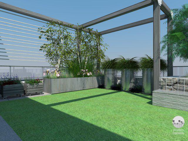 projektowanie ogrodów na dachu tarasie warszawa