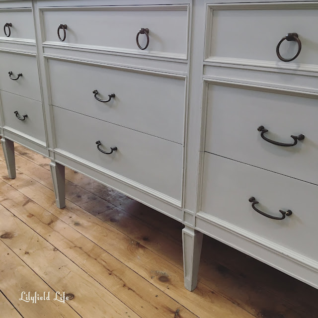 Vintage French style drawers - Pale Grey lilyfield life