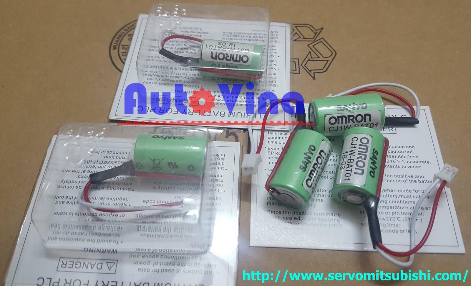 Đại lý bán các loại Pin, Battery CJ1W-BAT01 cho PLC Omron CJ1M CJ2M CPU tại Việt Nam