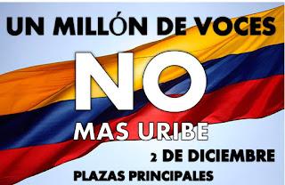 La marcha contra Uribe es para salvar la paz
