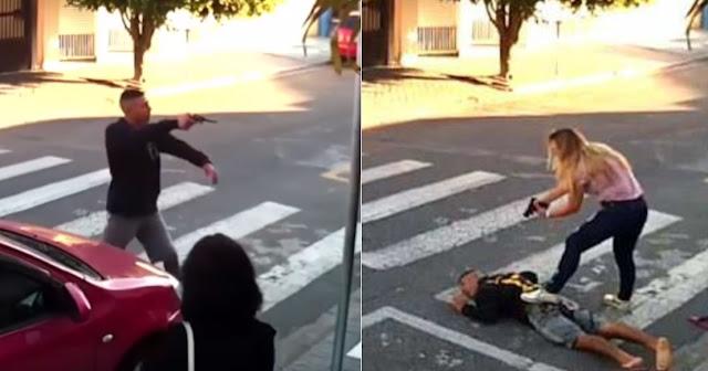 Μητέρα εξουδετέρωσε ένοπλο ληστή έξω από σχολείο (βίντεο)