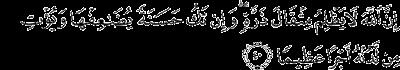 Surah An-Nisa' ayat 40