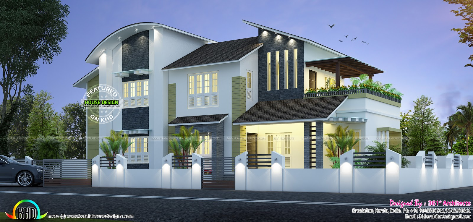 New modern house 35 lakhs kerala home design and floor plans for Modern kerala style house plans with photos