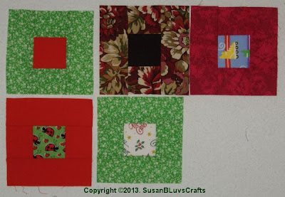 5 Cobblestone quilt blocks