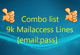 Combo list 9k Mailaccess Lines [email:pass]