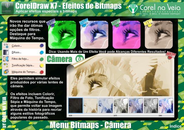 CorelDraw X7 - Novo Efeitos de Bitmaps Camera