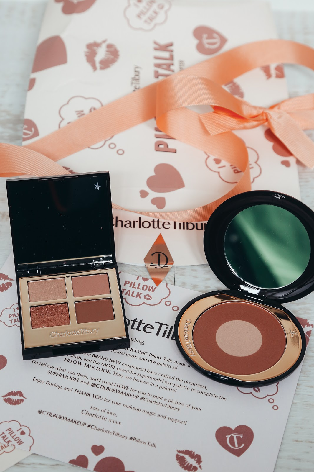 Charlotte Tilbury Pillow Talk Blush & Luxury Eye Palette Review