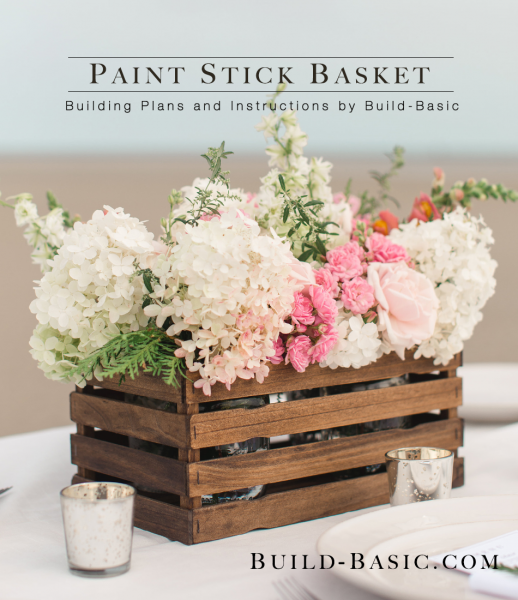 Build Basic paint stick basket free plans