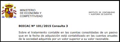 BOICAC 101 consulta 3 Cuentas Consolidadas