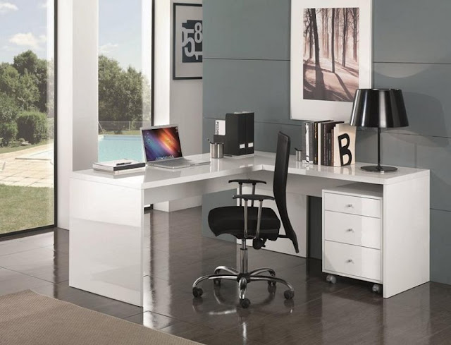 best buy modern white home office furniture Katy for sale