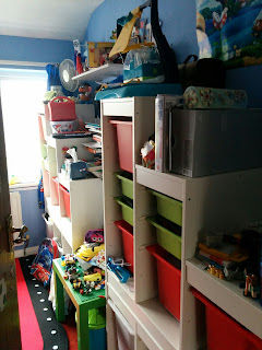 BB's bedroom before the KonMari method was applied