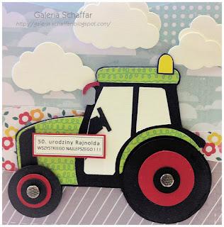 kartka handmade rolnik traktor urodziny galeria schaffar