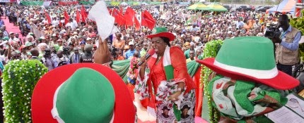 Dame Patience Jonathan mocked the APC's chant for change ''We are not Bus Conductors that Ask for Change''