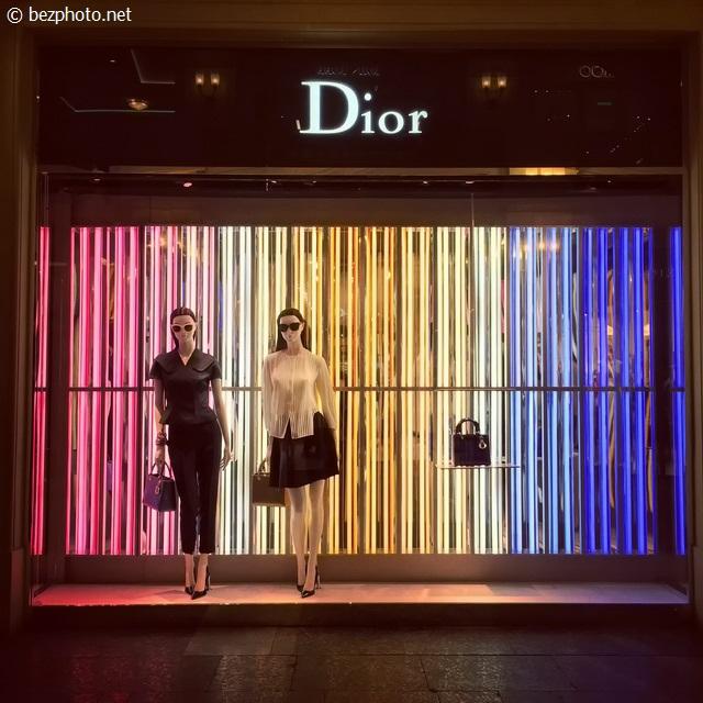 витрины dior