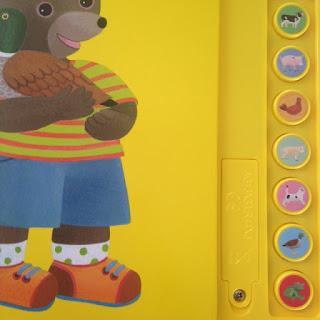 Petit Ours Brun - détail des boutons sonores animaux