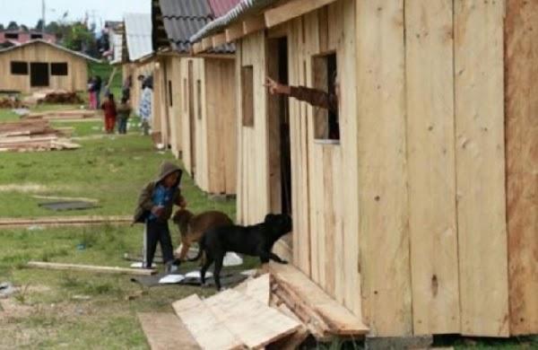 Padres de familia no esperaron al gobierno, ellos levantaron con madera la escuela de sus hijos.