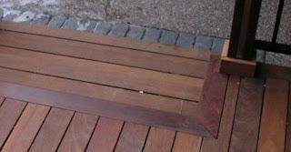 decking kayu ulin terpasang