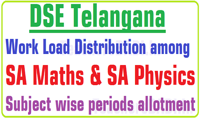 Work Load Distribution,SA Maths,SA Physics,Subject wise periods allotment