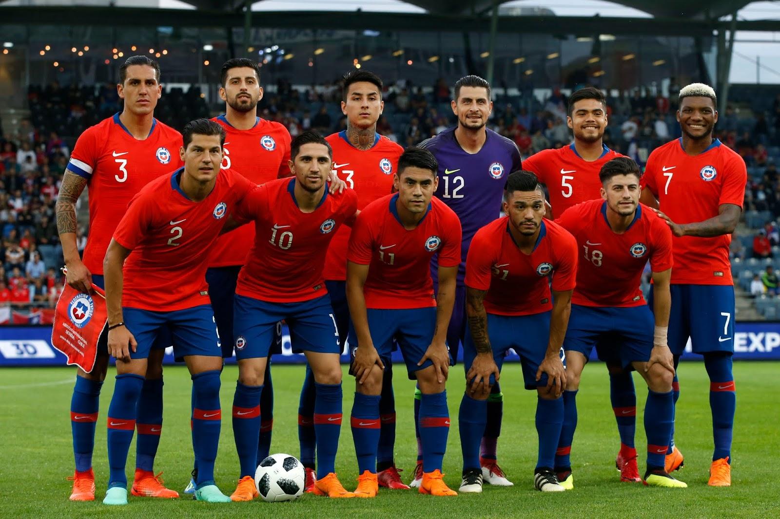 Formación de Chile ante Serbia, amistoso disputado el 4 de junio de 2018