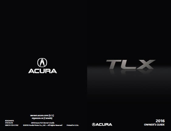 Download 2016 TLX Owner's Manuals & Guides