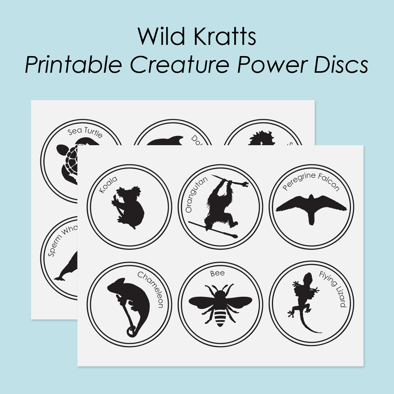 image regarding Wild Kratts Creature Power Discs Printable titled Totally free Printable Creature Electricity Discs - brilliant apple blossom