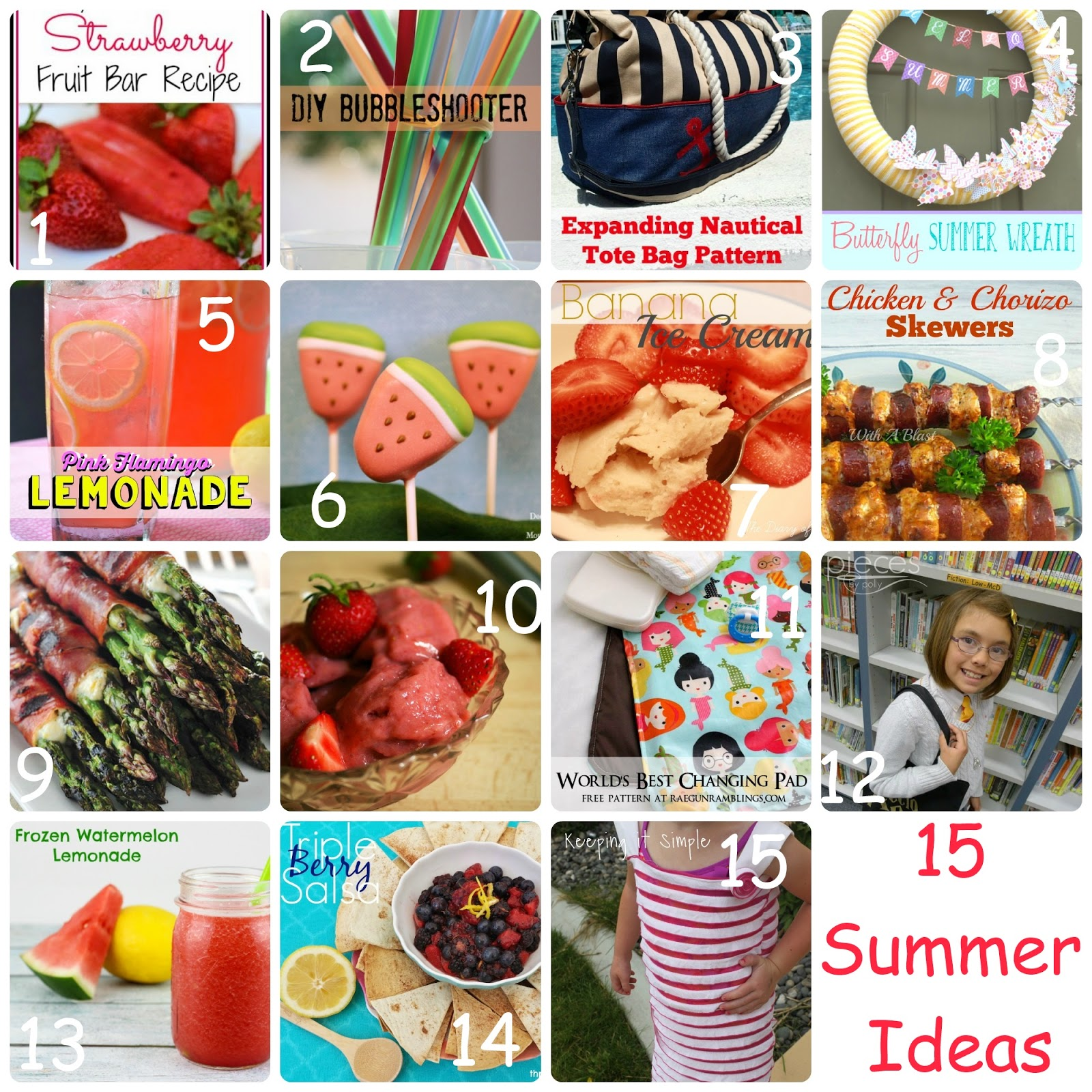 DIY Summer Ideas. Projects and recipes to make your Summer great.