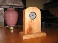 Using a clock from a junk car to make a table clock