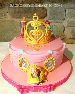 gold tiara birthday cake