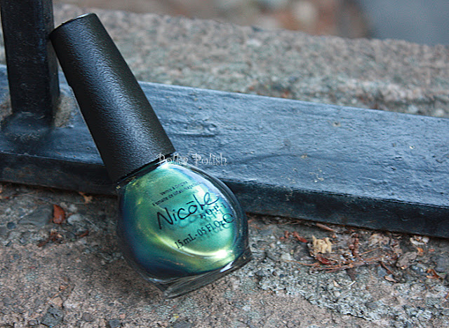 Nicole Mer-Maid for Each Other nail polish bottle blue green duochrome