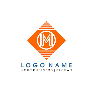 Letter M Striped Logo Template Free Download Vector CDR, AI, EPS and PNG Formats