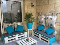 muebles para patio con palets