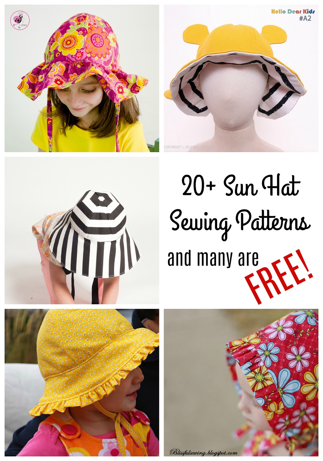Baby   Kids Sun Hat Sewing Patterns - 20+ Sewing Patterns - Made by Sara 4e8ea67a4a7