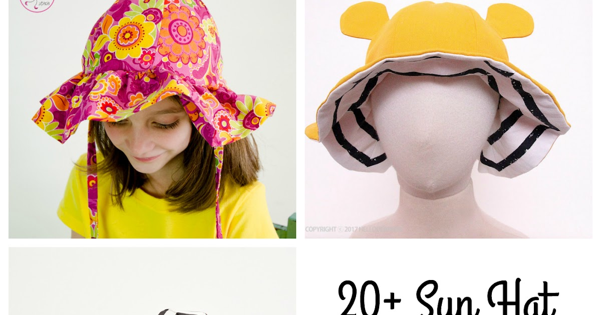 Baby & Kids Sun Hat Sewing Patterns - 20+ Sewing Patterns - Made by Sara