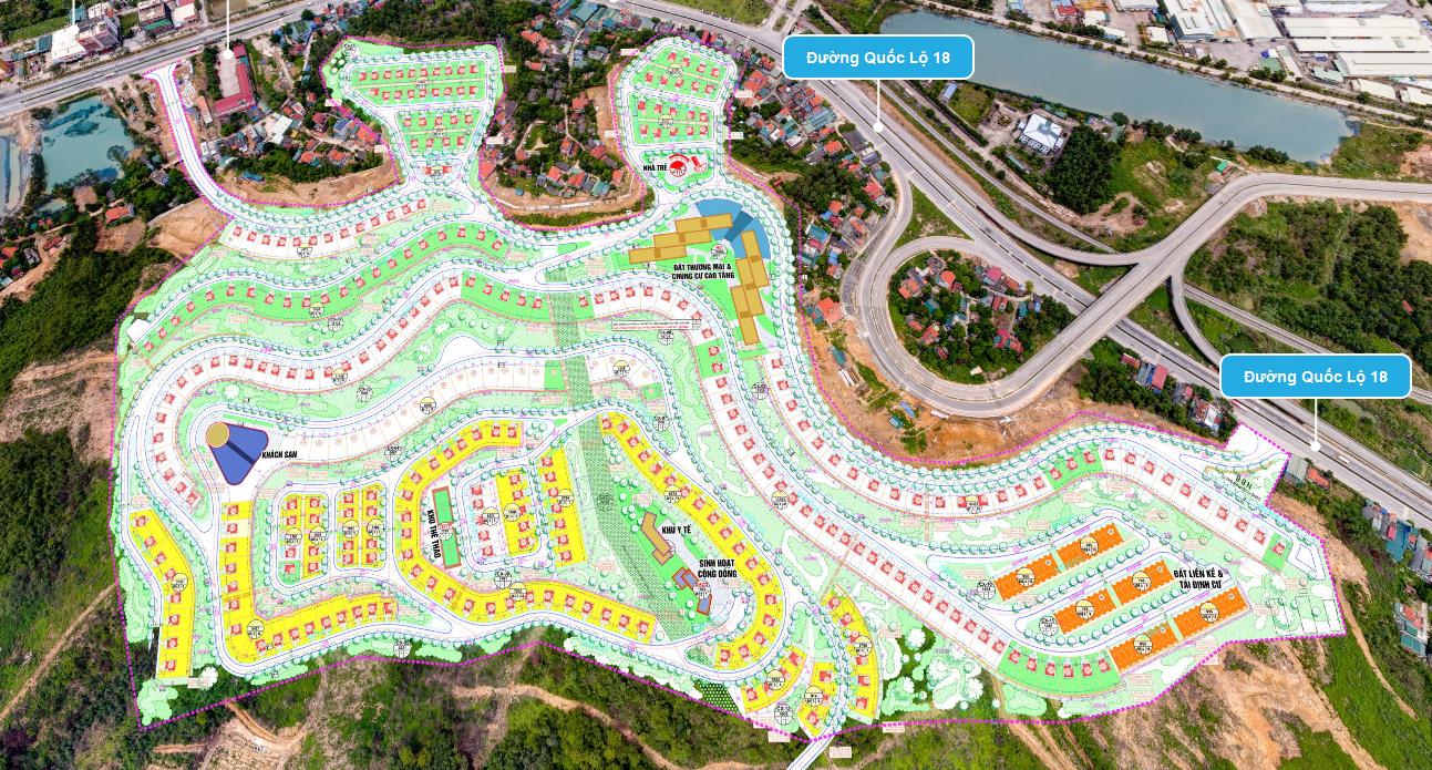 Bản đồ phân lô đồi biệt thự Thuỷ Sản - P. Bãi Cháy - Tp. Hạ Long - Quảng Ninh