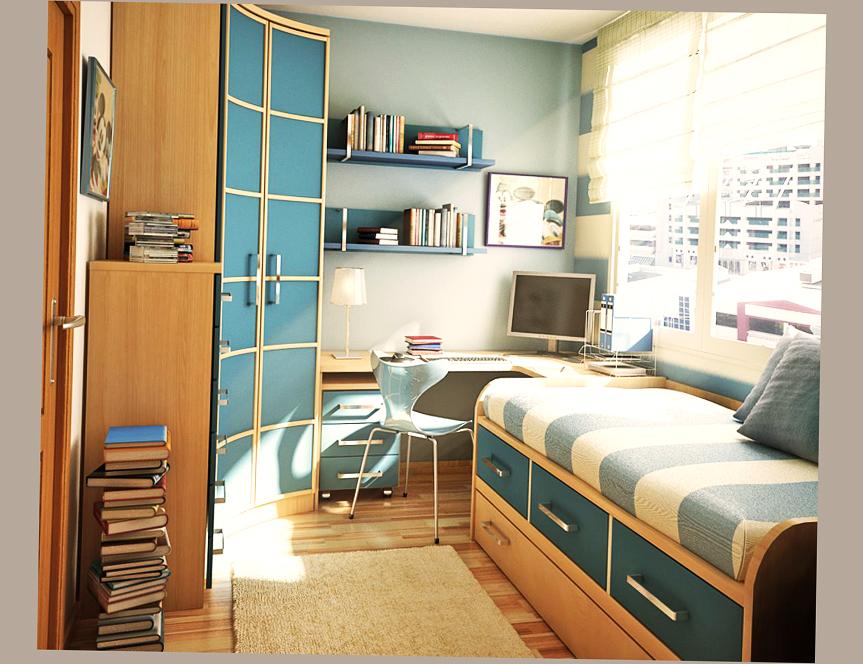 Cool Teen Room Ideas 2016 Boys and Girls - Ellecrafts on Small Teenage Bedroom  id=28999