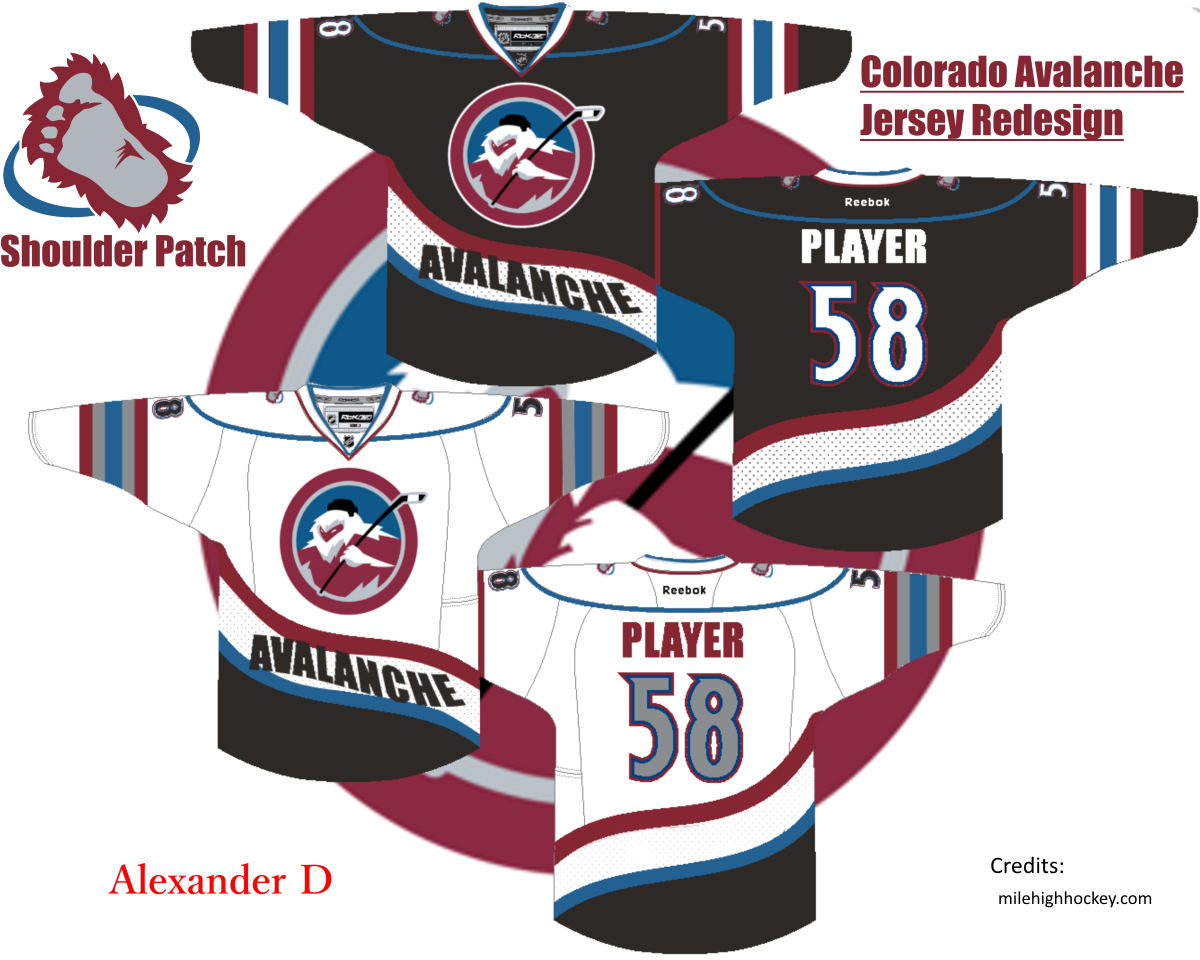 newest collection e5e62 21c6f colorado avalanche jersey foot