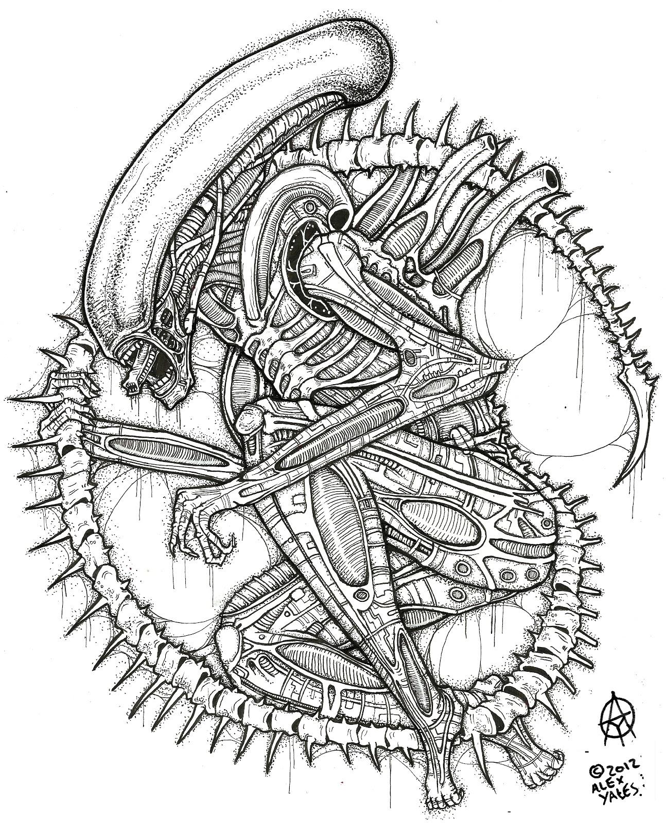 Alex Yates ILLUSTRATIONS: the xenomorph