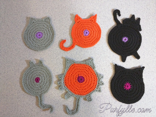 Crochet Cat Coasters #handmadeXmas2016