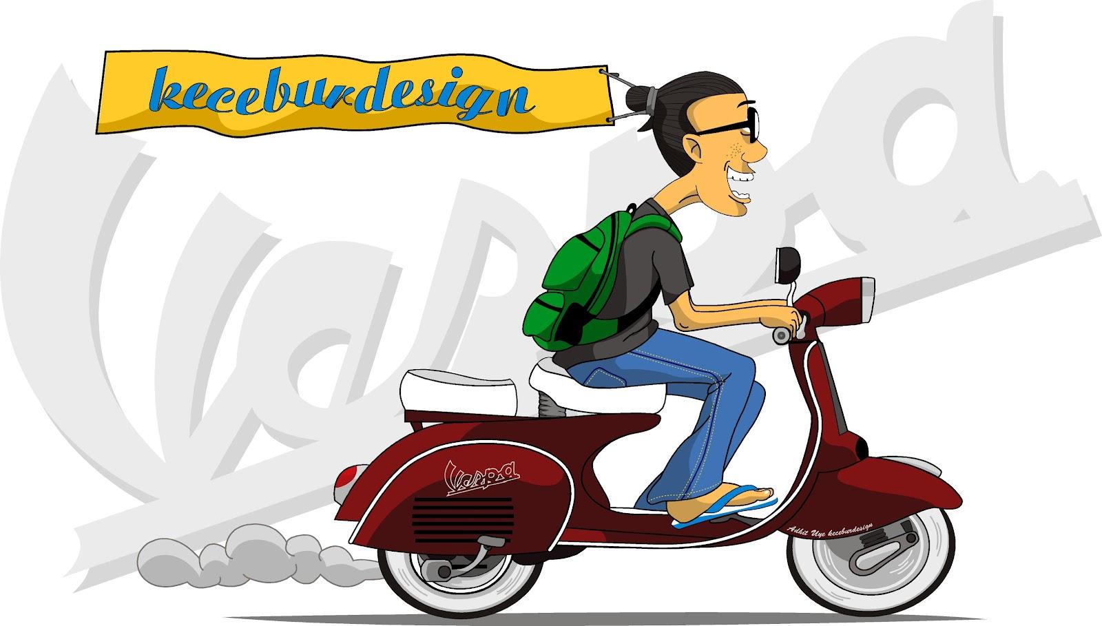 Gambar Kartun Muslimah Naik Motor Gambar Kartun