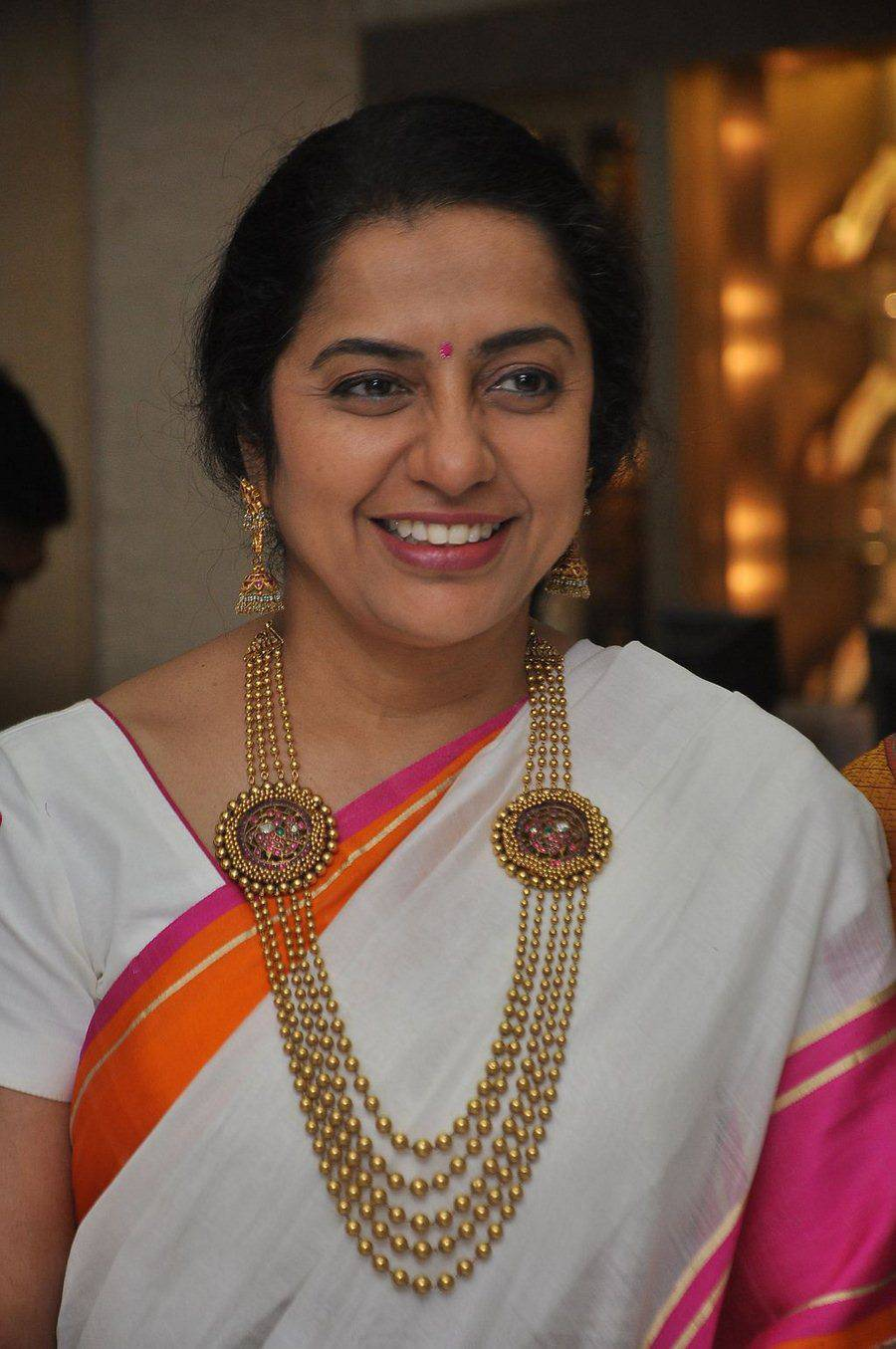 Actress Suhasini Latest Stills In White Saree