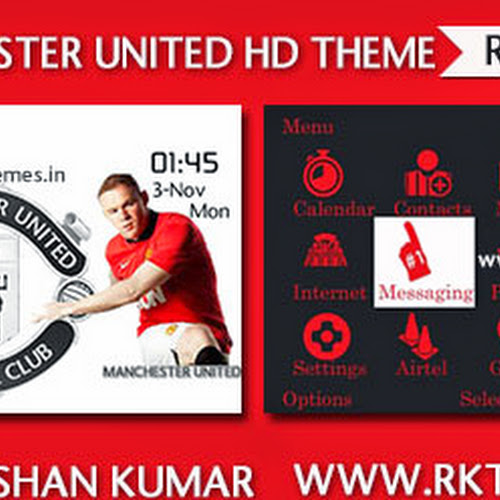 Manchester United HD Theme For Nokia C3-00, X2-01, Asha 200