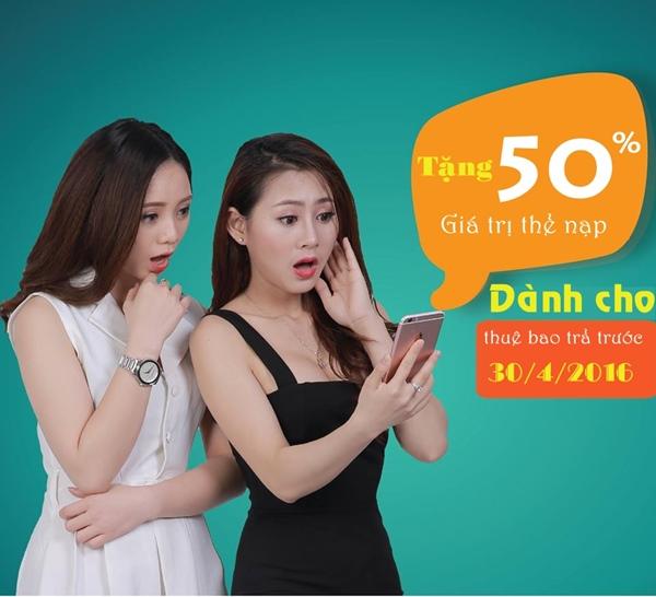 Viettel khuyến mãi 50% nạp thẻ ngày 30/4/2016