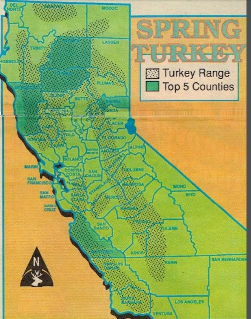 turkey hunting lands and properties in California, how to hunt california