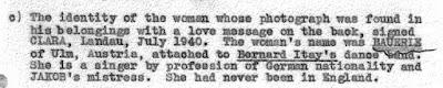 "February 2, 1941 - KV 2/24 - 9a - Initial Interrogation of Josef Jakobs regarding ""Clara"" conducted by Major Stephens, Lt. Sampson & Lt. Meurig-Evans."