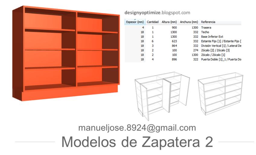 Dise o de muebles madera construir zapatera con planos for Disenos de zapateros en madera