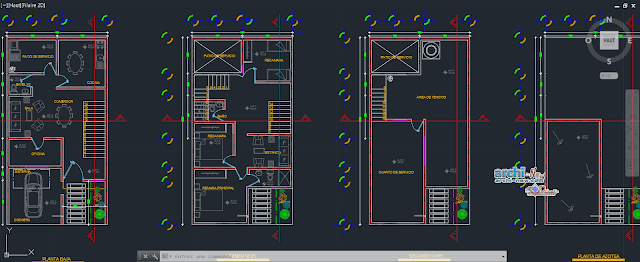 One's house room Dwg