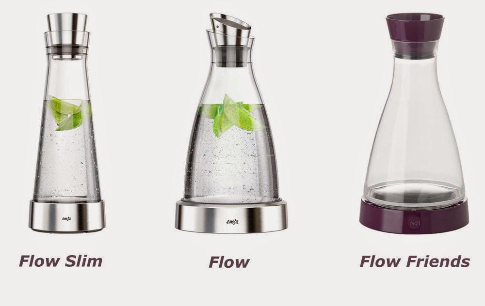 Emsa Wasserkaraffe aus Glas mit Deckel