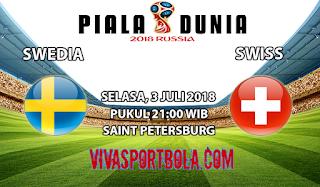 Prediksi Bola Swedia vs Swiss 3 Juli 2018
