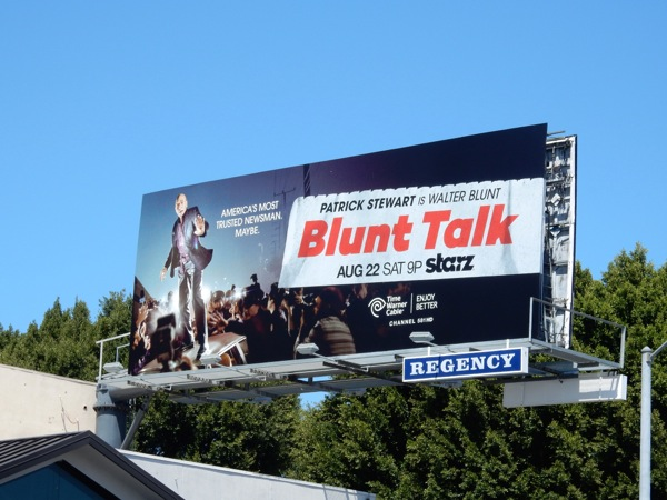 Blunt Talk series launch billboard